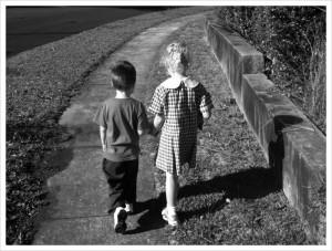 school walking
